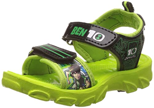 b7bd39b8df3 Ben 10 Boy s Sandals Green Synthetic Sandals and Floaters - 10C UK 29 EU