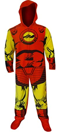 df25fc15007a Hooded Marvel Comics Iron Man Onesie Pajama for Men at Amazon Men s ...
