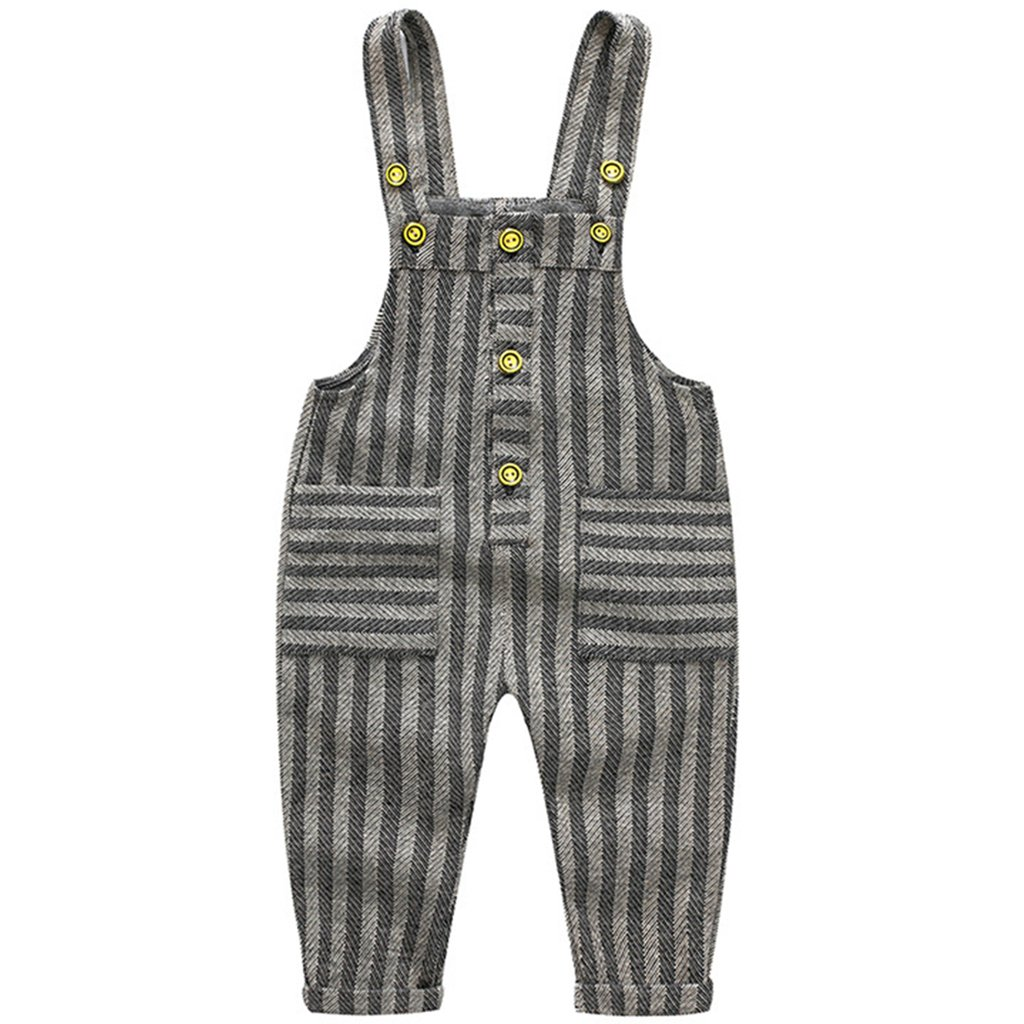 JiAmy Baby Toddler Dungarees Knitted Overalls Boys Girls Strap Rompers Jumpsuit Outfits