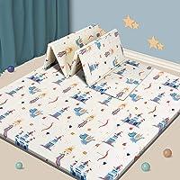 Baby Play mat, Foam Playmat Kids Folding Mat Reversible Waterproof Non Toxic, Crawling Mat for Babies, Infants, Toddler…