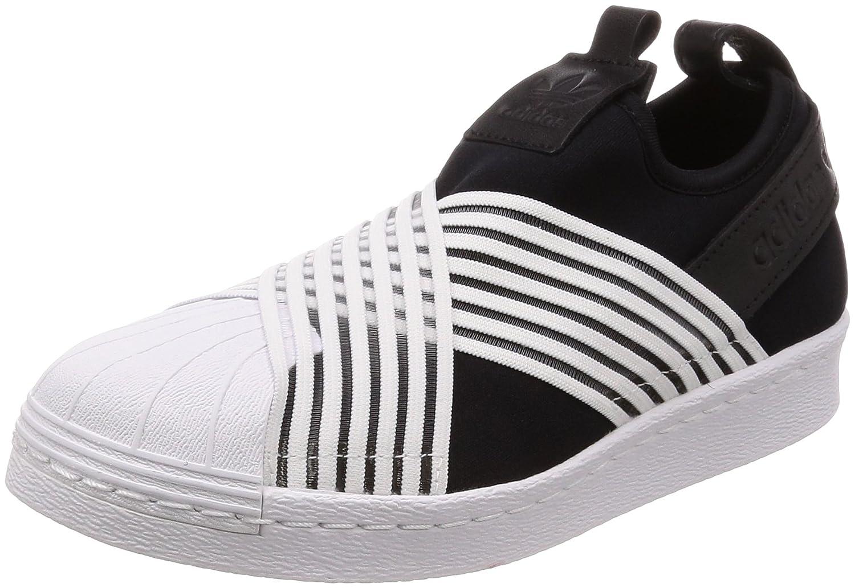 Adidas Superstar Slip On W, Zapatillas de Gimnasia para Mujer 36 2/3 EU|Negro (Core Black/Footwear White/Footwear White 0)