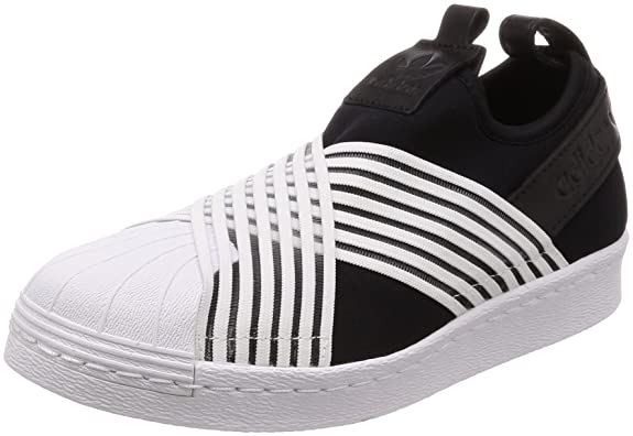 adidas Damen Superstar Slip On W Gymnastikschuhe, schwarz