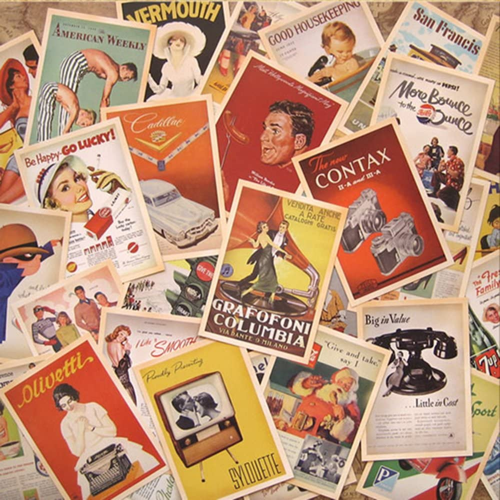 32 PCS 1 Set Vintage Retro Postcard Old Travel Sights Landscape Retro Postcards Greeting Cards Souvenir Gifts for Worth Collecting