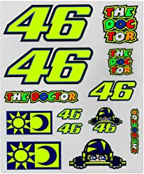 Valentino Rossi Multi Vr46 Big Classic Sticker Pack (Default, Yellow)