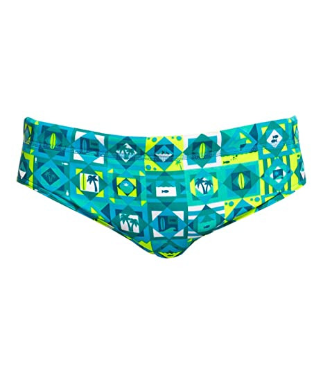 Funky Trunks Herren Badehose Schwimmhose Classic Briefs Lime