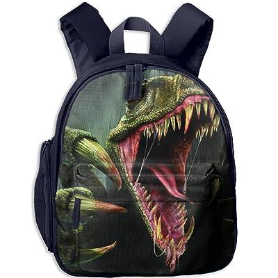 KEPan Outdoor Evil Dinosaur Kids Snack Backpack School Book Bags Gift For Toodle Teen Boys Girls