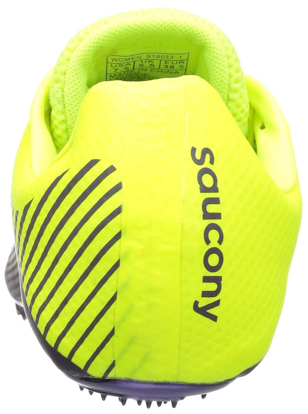 Saucony Women's Showdown 4 Track Shoe, Citron/Purple, 9.5 M US by Saucony (Image #2)