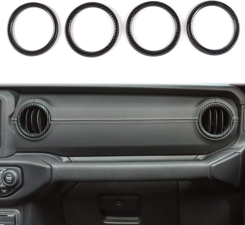 Blue Yoursme Air Conditioner Vent Outlet Cover Decoration Ring Interior Dashboard Trim Kit ABS Fit for Jeep Wrangler JL JLU /& Gladiator JT 2018-2021