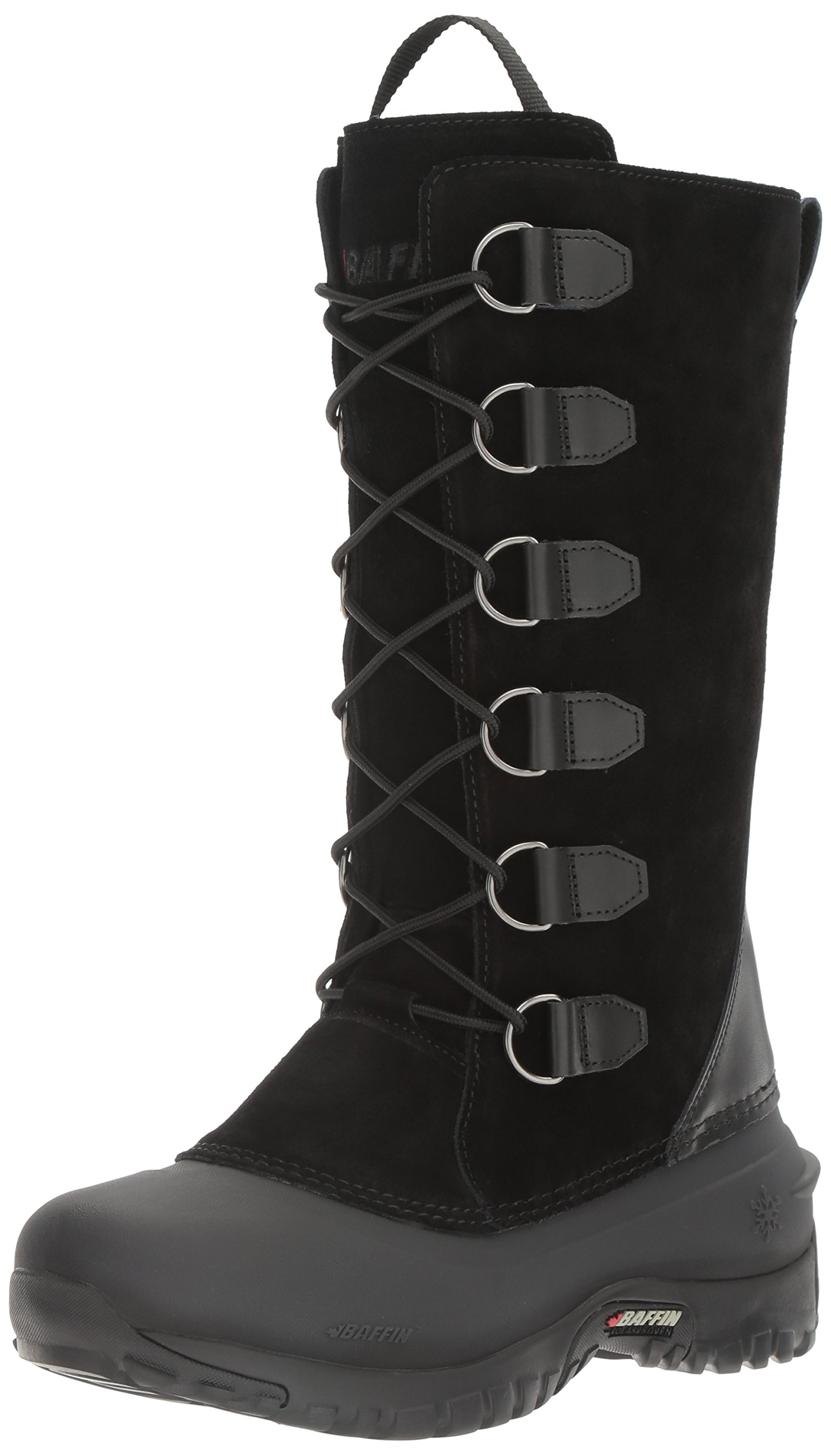 Baffin Women's Coco Insulated Suede Winter Boot,Black,10 M US