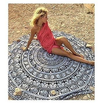 rundes Teppich handgemacht Baumwolle antialergisch