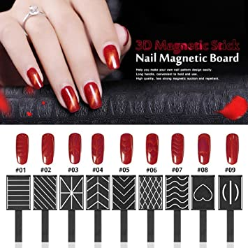 Amazon Beautiful 3d Magnet Plate Wand Board Nail Art Tool For