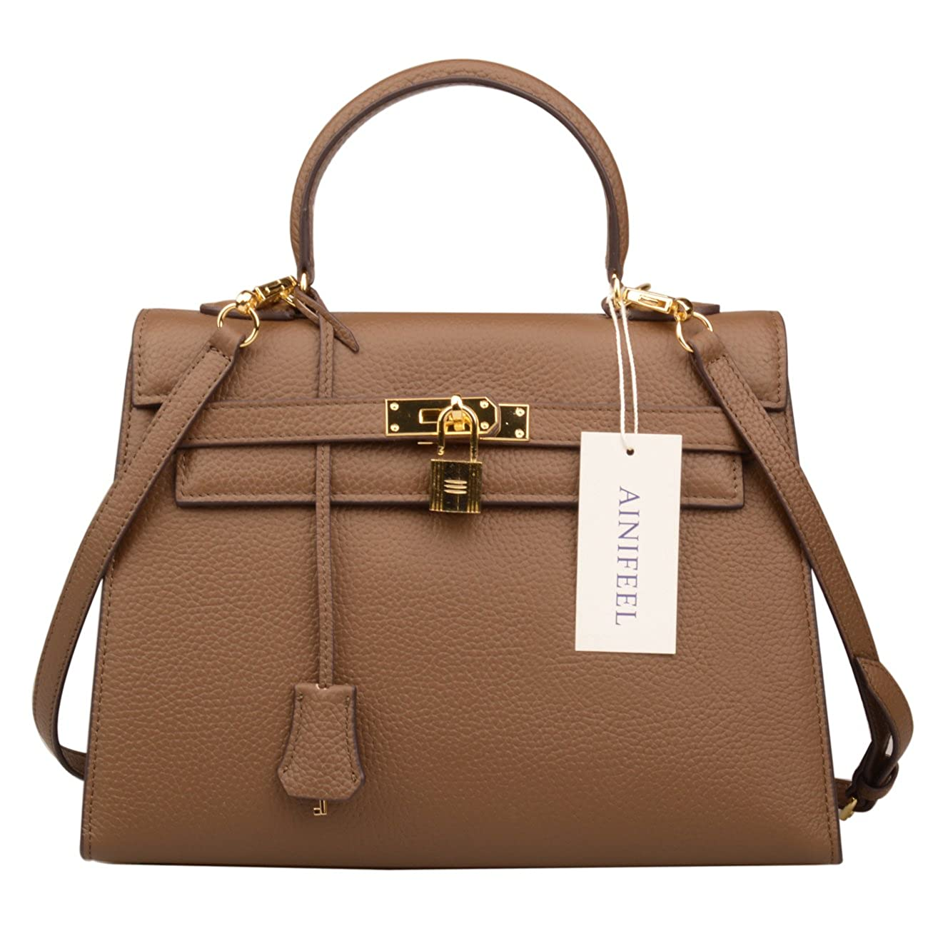 429cfc1cd0d213 Ainifeel Women's Padlock 32cm Shoulder Handbags Satchel Purse Hobo Bag  (Khaki): Amazon.ca: Shoes & Handbags