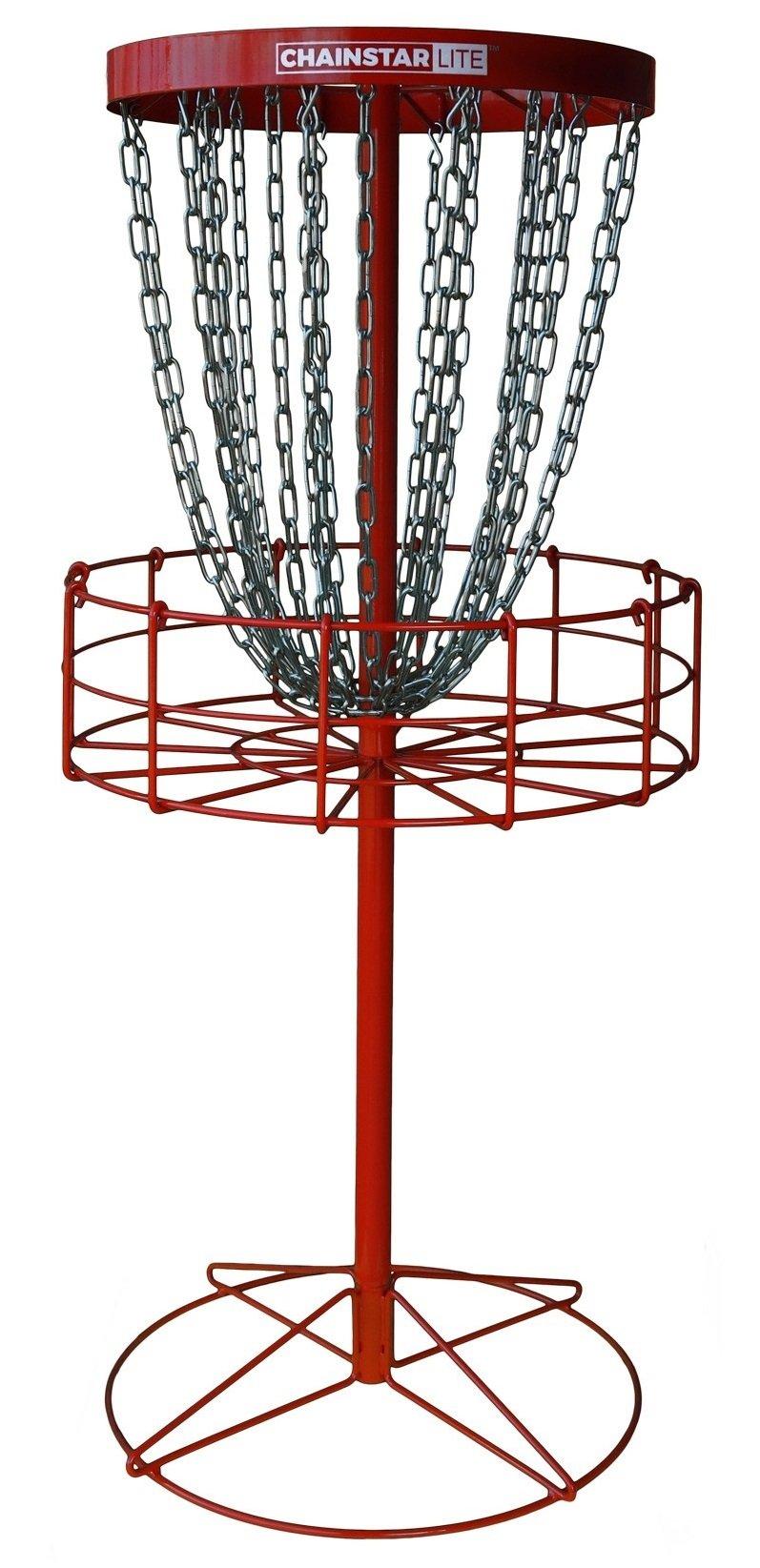 Discraft Chainstar LITE 24-Chain Disc Golf Basket - Red by Discraft