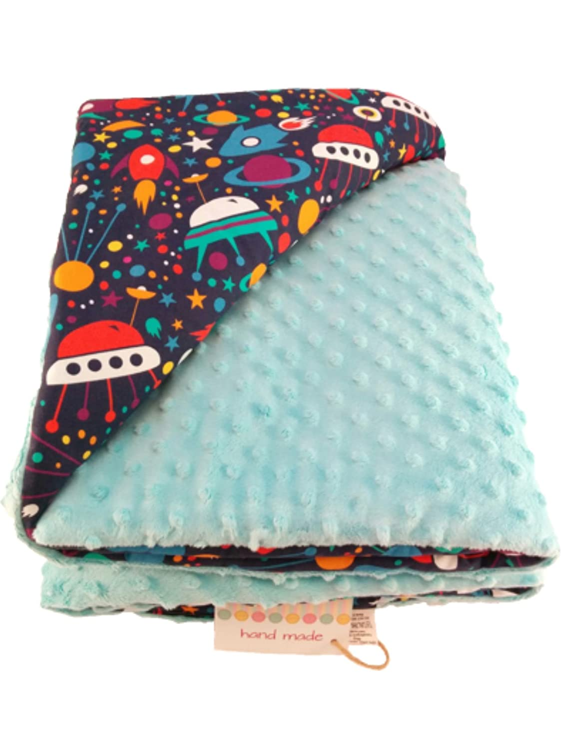 PRAM QUILT COVER CRIB MINKY PATTERNED REVERSIBLE BLANKET 100x75 SOFT COSY COT