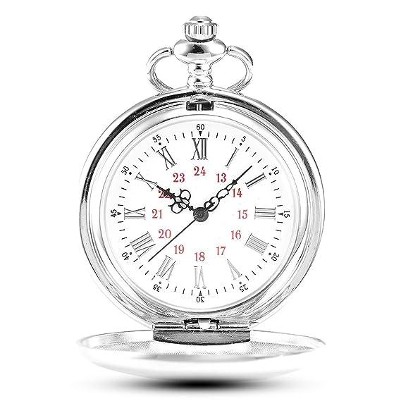 d3694d3a117f Gorben Reloj de bolsillo con cadena para hombre