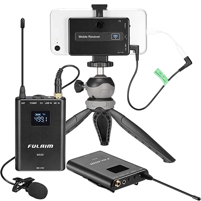 40% Off FULAIM MX20 UHF Wireless Lavalier Microphone System