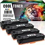 Cool Toner 4 Pack Compatible per HP 203A 203X CF540X CF541X CF542X CF543X CF540A pour HP LaserJet Pro MFP M254dw M254dn M254nw HP Color LaserJet Pro MFP M281fdw M281fdn M281cdw M280nw M254 M281 M280