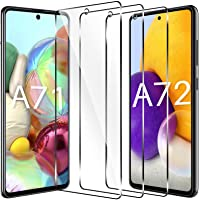 LK [3 Pack] Screen Protector for Samsung Galaxy A71/A72, Tempered Glass, Case Friendly, Double Defence (Alignment Frame…