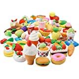 25PCS Pencil Erasers Assorted Food Cake Dessert Puzzle Toys Earsers For Kids(25 different Style randomly selected from…