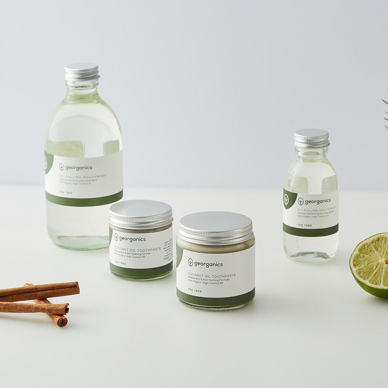 Georganics Dentífrico Natural Remineralizante con Aceite de Coco - Árbol de Te 120ml: Amazon.es: Salud y cuidado personal