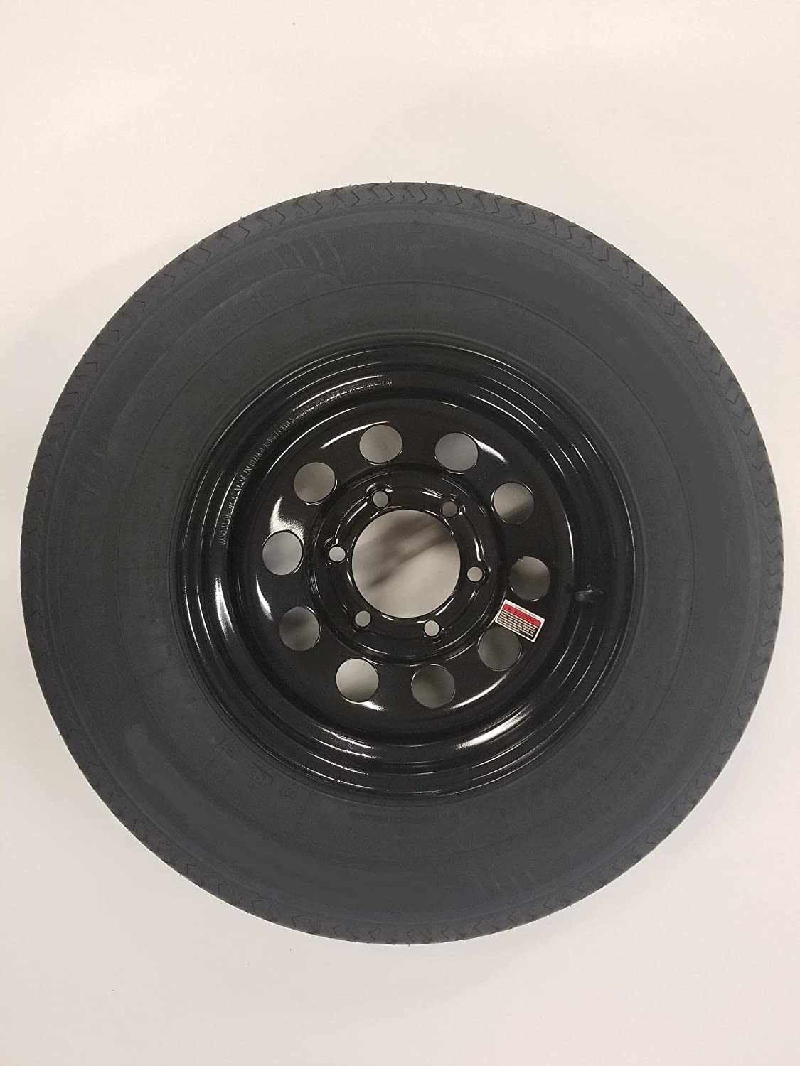 15 Black Mod Trailer Wheel 6 Lug with Radial ST225/75R15 Tire Mounted (6x5.5) Bolt Circle Wheels Express Inc