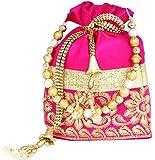 PrettyKrafts Traditional Style Velvet Accessories Potli Bag