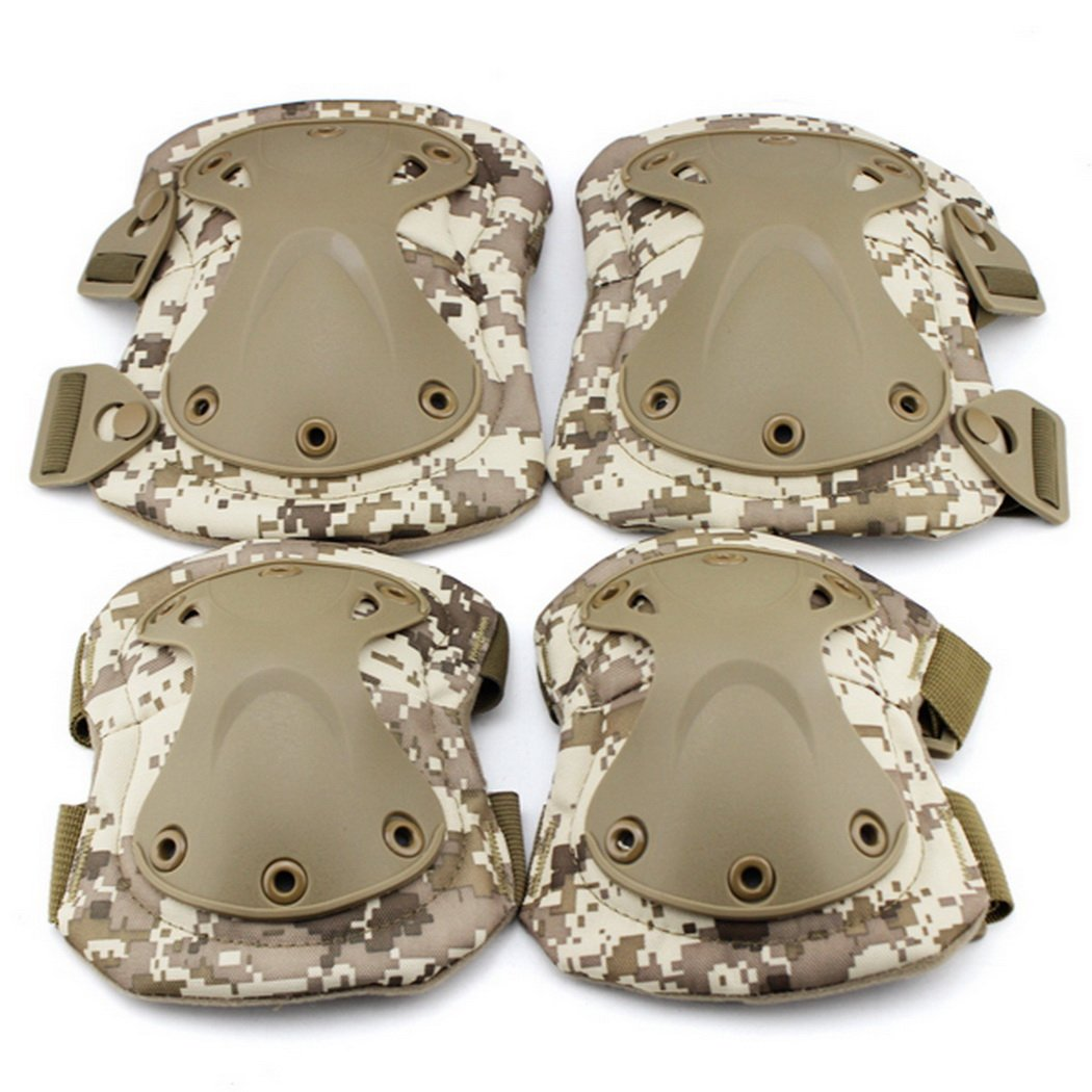 Simways Outdoor Tactical Knee Pad and Elbow Pad Set (Tan) by Simways