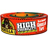 """Gorilla 6004002  Tape, High Visibility Duct Tape, 1.88"""" x 35 yd, Blaze Orange, (Pack of 1)"""