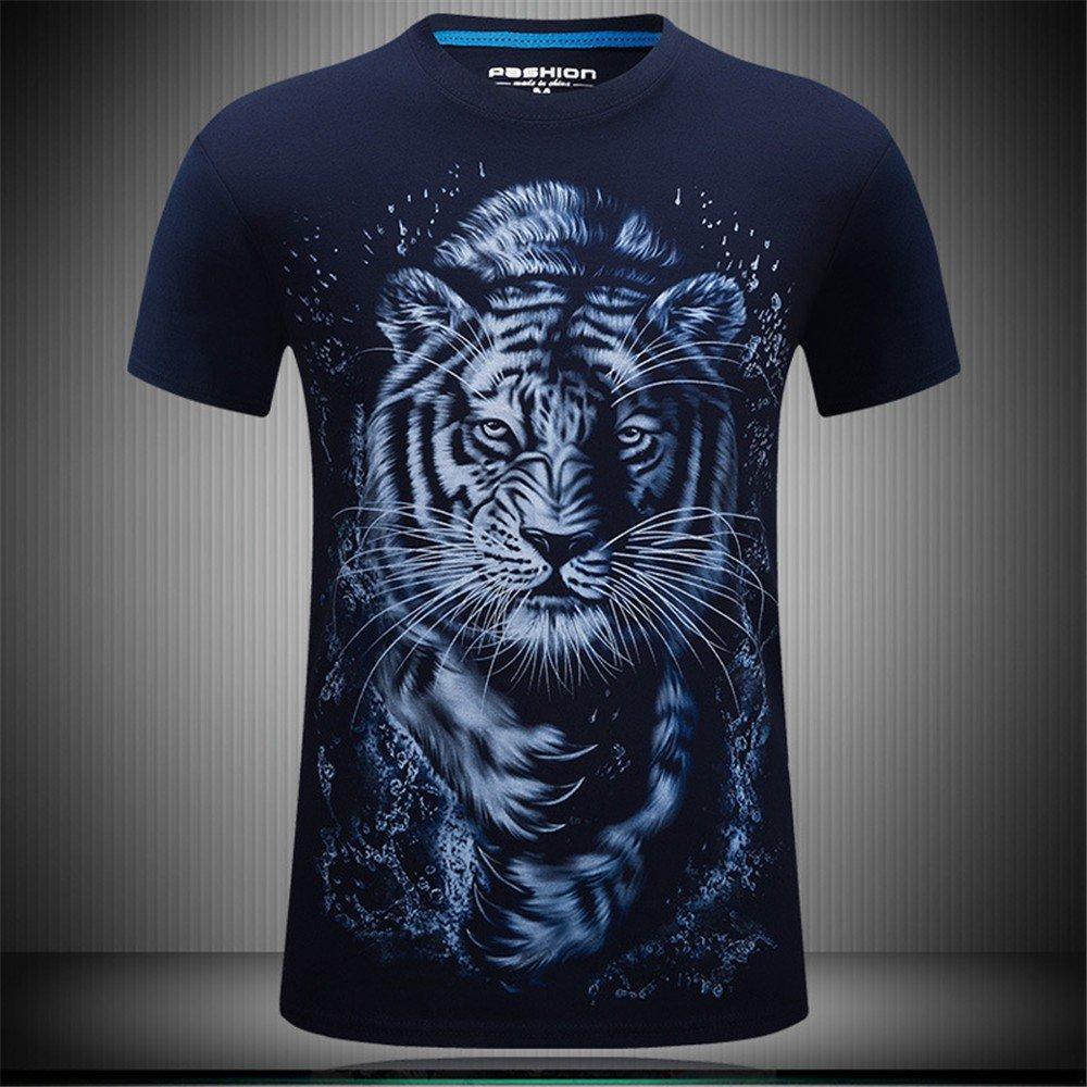 WHLTX Sports Manches Courtes T-Shirt De Sport Personnalisé Manches Courtes T-Shirts Et Élégant De Qualité Pur Coton Creative 3D À Manches Courtes Hommes