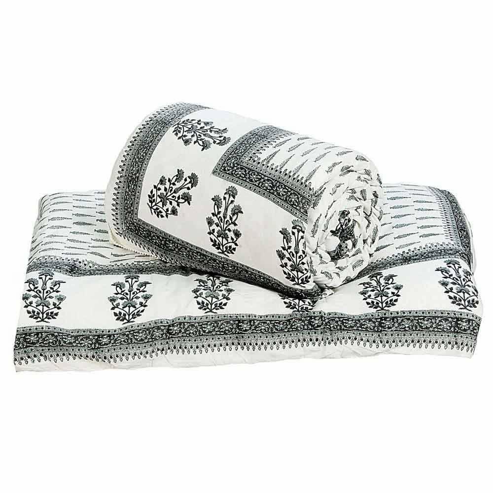 Little India Handblock Ethnic Cotton Double Bed Comforters Pair 613