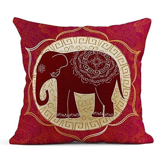 Kinhevao Cojín India Elefante Indio Mandalas Yoga Aura Lotus ...
