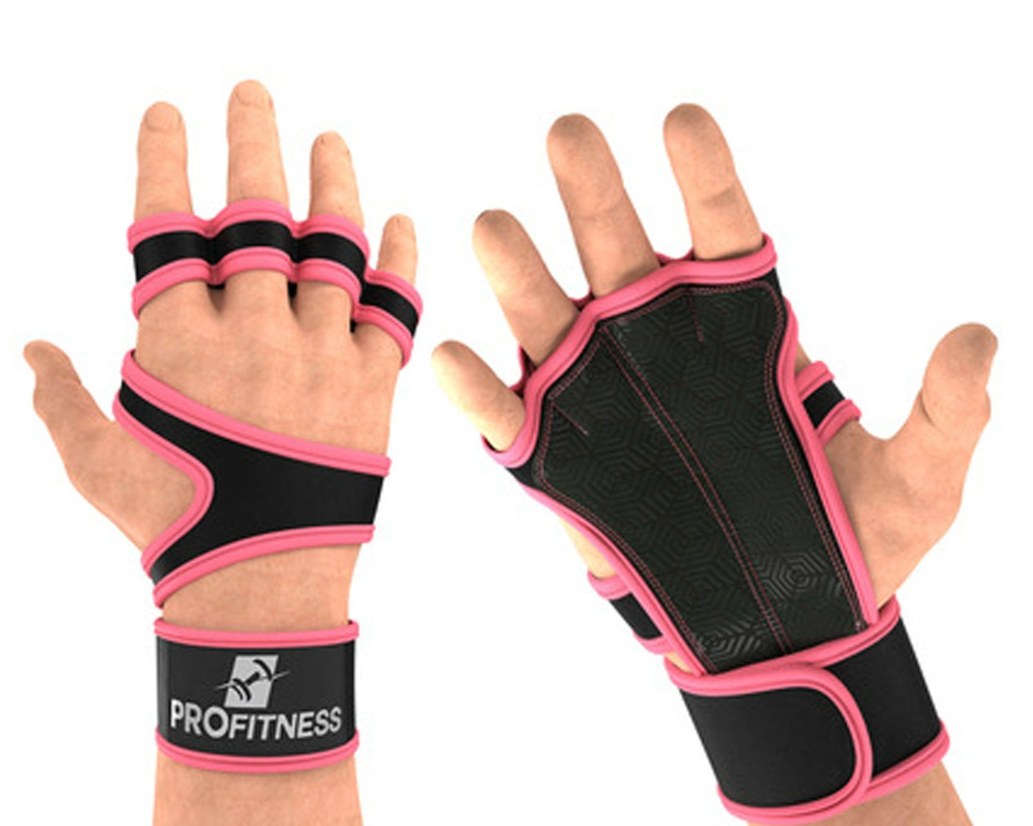 ProFitness Cross Training Gloves with Wrist Support by Non-Slip Palm  Silicone Padding to Avoid