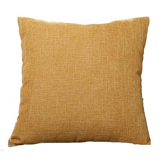 gespout cuadrado lentejuelas Cojín verde plantas algodón fundas de almohada Cafe decoración para el hogar sin núcleo 45 x 45 cm marrón, algodón, ...