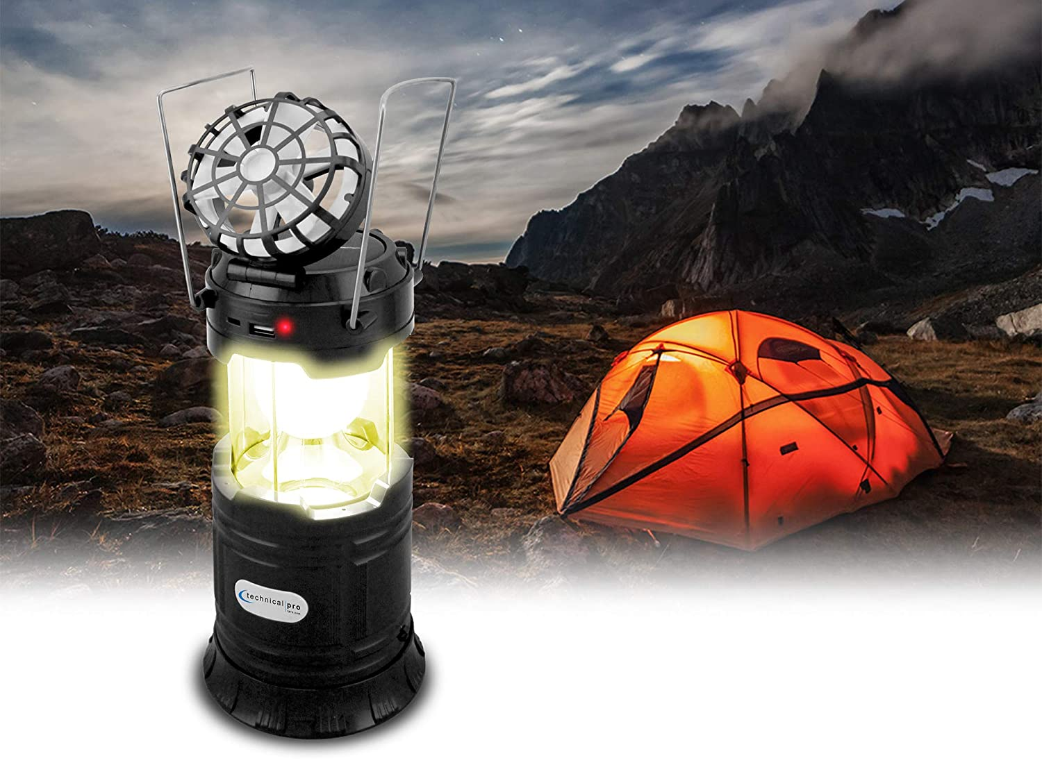 Technical Pro Rechargeable 5-in-1 Outdoor Camping LED Lantern OLF6B