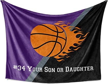 Amazon Com Sacramento California Custom Youth Basketball Fleece Throw Blanket Personalized Kids Team Blankets For Boy Girls Sports Sports Outdoors