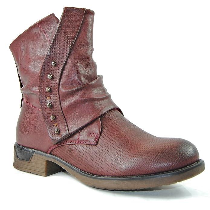 Schuhtraum Damen Worker Stiefeletten Stiefel Boots Biker Outdoor   Amazon.de  Schuhe   Handtaschen 78150f6e47