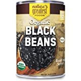 Organic Canned Black Beans - 12-Pack, 15 Ounce - Ready To Serve - GMO-Free, Kosher - Nature's Greatest Foods
