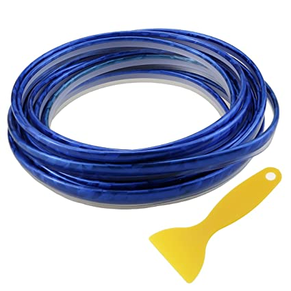 Automotive Interior Stickers Exterior Decoration Trim Strip Motor Moulding  5M PVC Crisp Blue