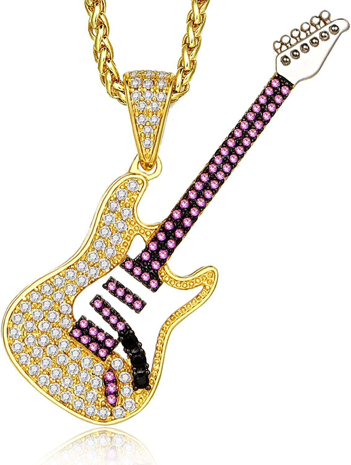 14k Yellow Gold Musical Series Electric Guitar Pendant