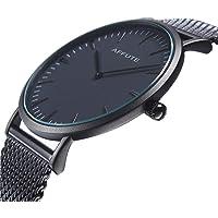 Watches Men Thin Minimalist Mesh Stainless Steel Waterproof Men's Quartz Wrist Watch