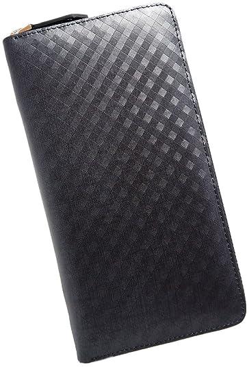 b0ff2276c12f Amazon | ブラウン F スペイン産 グラフィット レザー 長財布 メンズ 財布 本革 ラウンドファスナー 薄型 大容量 ファスナー レディース  サイフ 人気 ブランド なが ...