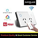 AU Type Touch Double GPO Glass Panel Power Point Wall Outlet Socket Switch 10AMP