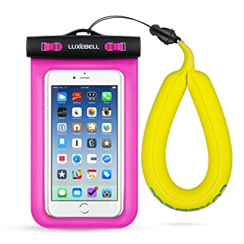 68a89d8e7cc Funda Impermeable Móvil Luxebell Carcasa Teléfono con Correa Flotante  Cámara para Apple iPhone 6S 6,6S Plus, 5S ...