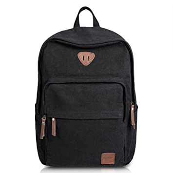 Amazon.com: Ibagbar Vintage Canvas Backpack Rucksack Laptop Bag ...