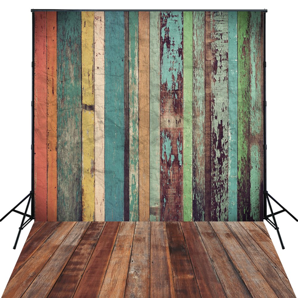 4x6ft Wood backdrop Photography backdrops Background baby shower backdrop brown wood silk backdrop D-7570 XINTAI YIHUA