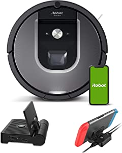 iRobot Roomba 960 Robot Vacuum Holiday Bundle, Wi-Fi Connected Vacuuming Robot, Works with Alexa, Smart Mapping for Pet Hair, Carpets, Hard Floors + NexiGo Nintendo Switch Charging Station Bundle