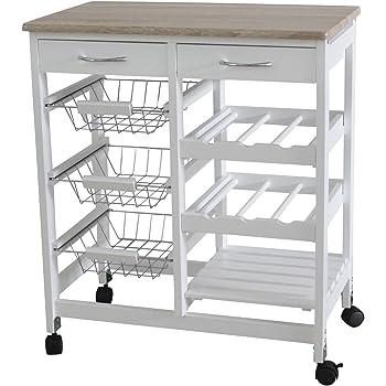 Amazon.com: Home Basics Portable Kitchen Storage Island ...