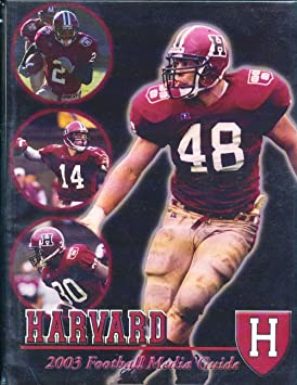 the latest b9039 b5e59 Amazon.com: 2003 Harvard University Football Media Guide ...