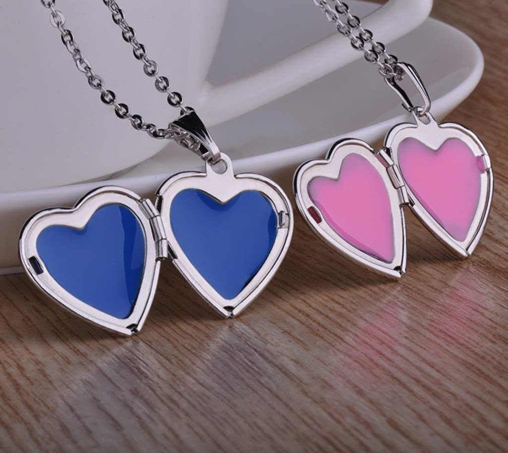 Infinite U Laser Engraving I Love You Open Heart Photo Locket Stainless Steel Pendant Necklace for Girls//Women Enable to Engrave Your Own Words