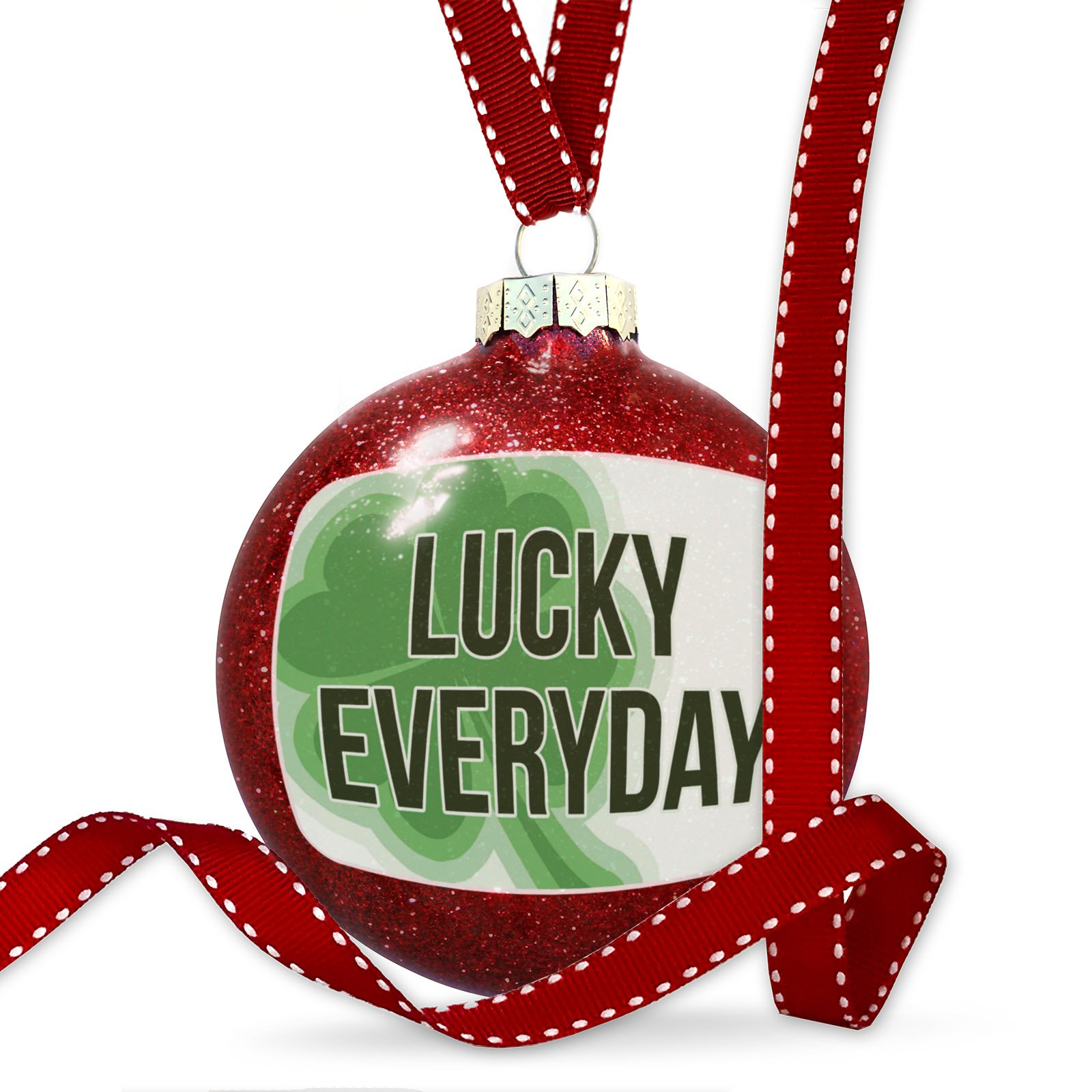 Christmas Decoration Lucky Everyday St. Patrick's Day Large Shamrock Ornament by NEONBLOND